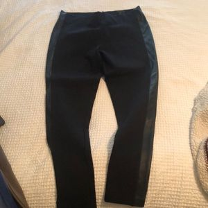 Jcrew Pixie Pant (with leather stripe)
